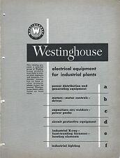 MRO Brochure - Westinghouse - Motor Generator Capacitor X-Ray etal c1952 (MR145)