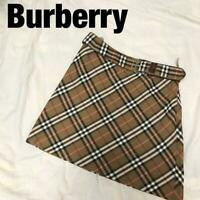 Burberry Blue Label With Belt Skirt Nova Check Size M