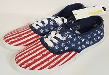 NWT Capelli New York red white & blue american flag canvas sneakers, ladies sz 9