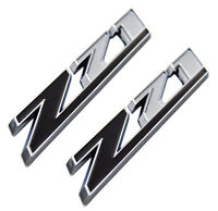 2x Z71 Emblem ABS Badge for GMC Chevy Silverado 1500 2500 Sierra Chrome Black
