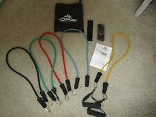 BLACK MOUNTAIN RESISTANCE BANDS NWOT with Carrying Case & Illustrated User Guide