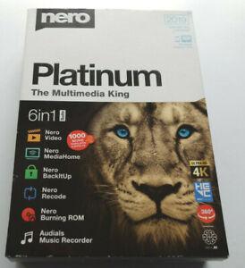 Nero Platinum The Multimedia King 2019 6 in 1 Suite Record Burn Video Unlimited