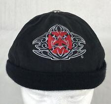 CSI 44 Magnum Series Capsmith Black Iron Cross Embroidered Biker Beanie Cap Hat