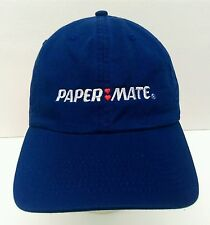 Papermate Pens embroidered double hearts logo adjustable strap casual hat cap