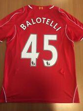 Balotelli 45. Liverpool Home football shirt 2014 - 2015. Size: L. Warrior jersey