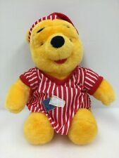 "Winnie the Pooh 12"" Plush Stuffed Animal Vtg 1998 Mattel Disney Sleepy Bed (2)"