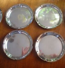 Antique - Vintage set of 4 pc. AM 900 Silver Scalloped Dish Plate Coaster