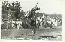 Pendleton Oregon Rodeo Jack Spurling Real Photo Postcard DeVere Helfrich