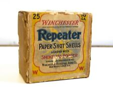 Vintage Winchester Repeater Paper Shot Shell Box - 16 Ga. - 2 Part Box