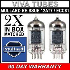 Brand New Mullard Reissue 12AT7 ECC81 Gain Matched Pair (2) Vacuum Tubes