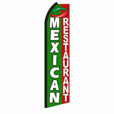 MEXICAN RESTAURANT Advertising Flutter Feather Sign Swooper Banner Flag Only