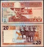 NAMIBIA 20 DOLLARS ND 2002 P 6 UNC