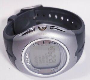 Gray Polar F7 Watch Digital Heart Rate Monitor Watch Silver Case 50m Men Women
