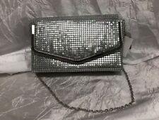 Mundi Silver Metal Mesh Flap Chain Clutch evening small Handbag Purse NWT $48