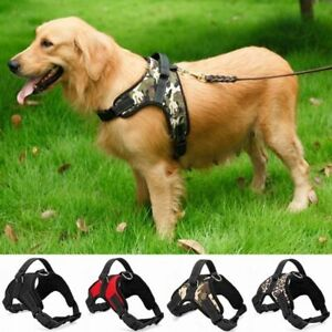 Harness For Large Dog Chest Anti Pull Harness Adjustable Reflective Lines New