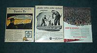 American Railroads Advertisements : Pennsylvania, Santa Fe, American Vintage