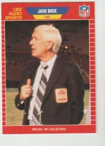 1989 Pro Set Broadcasters #11 Jack Buck card, St. Louis Cardinals HOF