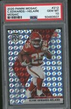 2020 Mosaic CLYDE EDWARDS- HELAIRE RC Rookie silver #212 Chiefs 507 PSA 10