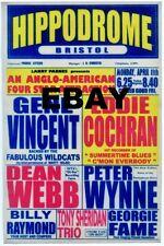 "Gene Vincent / Eddie Cochran Bristol 16"" x 12"" Photo Repro Concert Poster"