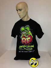 Mooneyes t-shirt Rat Fink size L 1932 Ed Roth roadster hot rod ford gasser