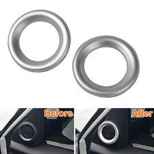 Interior Chrome Car A Pillar Stereo Speaker Ring Cover Trim For Civic 2016 2017