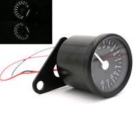 12000RPM Analog Motorrad LED Drehzahlmesser 65mm Schwarz 12V Universal Roller