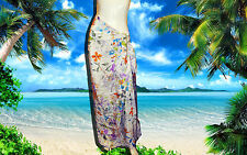 NWT GOTTEX 100% Silk FLORAL DESIGN SARONG WRAP COVER-UP DRESS SKIRT one size