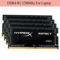 Für 8GB 16GB 32GB Kingston HyperX Impact DDR4 SO-DIMM 3200MHz CL20 Laptop RAM RH