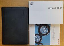 HONDA CIVIC 3 DOOR OWNERS MANUAL HANDBOOK 2000-2005 PACK 14738