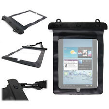 Black Waterproof Bag For Samsung Galaxy Tab 2 P3110 WIFI Tablet With Carry Strap