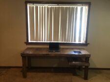 Modern Wood Desk w/ Lights