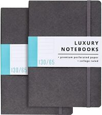 2 Pack Luxury Lined Journal Notebooks Journals For Writing With 130 Perforated