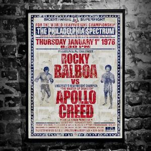 Rocky Balboa v Apollo Creed - Art Poster A4 & A3