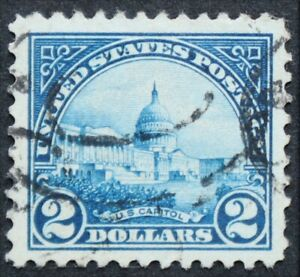 U.S. Used #572 $2 Capitol, Superb Jumbo. Vivid Color. A Gem!