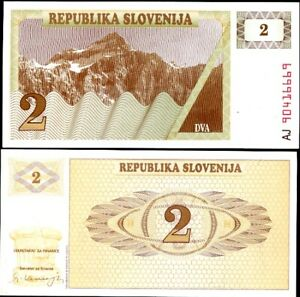 SLOVENIA 2 TOLAJEV 1990 P 2 UNC LOT 10 PCS