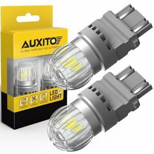AUXITO 3157 3156 LED Reverse Back up Light Bulbs 6000K Canbus Error Free 2US6T