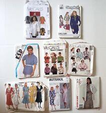 1980s Sewing Pattern LOT Dresses Tops Jackets Vogue Butterick McCalls Simplicity