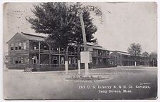 CAMP DEVENS Fort MASSACHUSETTS Military PC Postcard 13TH INFANTRY Army B&H Co