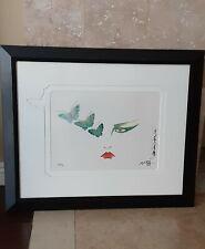 "Rare 1987 Hisashi Otsuka ""Eyes of Otsuka-Butterflies"" Mixed Media Edition Framed"