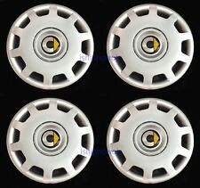 "Set (4pcs) Wheel Covers fit 2008-'15 Smart Car Fortwo 15"" Hubcaps Silver New"
