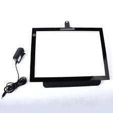 """14""""  LED Artist Stencil Board Tattoo Drawing Tracing Table Display Light Box Pad"""