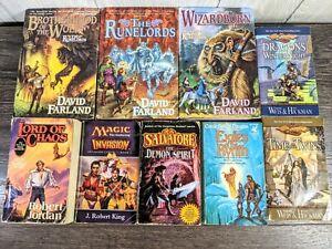 Fantasy Book Lot Of 9 David Farland, Dragon Lance, Magic the Gathering,