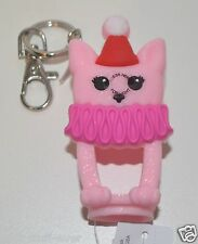 BATH BODY WORKS PINK DOG PUP LIGHT UP POCKET  BAC HOLDER SANITIZER KEYCHAIN