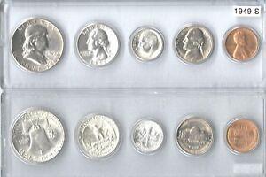 1949-S US Silver mint set in Whitman plastic holder