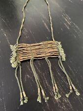 Boho Chic Handmade Necklace India Z&L Europe Brass Tassel Statement Necklace NWT