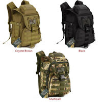 IDOGEAR Tactical Backpack Molle Pack Shoulder Bag Bug Out Bag Camping Camo 40L