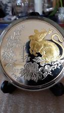 Mongolei 2007 Chinesischer Tier Kalender - Rat 5 000 Togrog 5 Oz Silber RAR!!