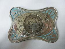Vintage 1922 Peace Dollar Belt Buckle