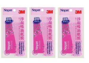 3M Nexcare Oil Control Film Scented 70 Sheets x 3 Packs
