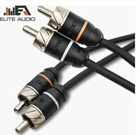 Elite Audio Premium 100%OFC Copper RCA Interconnects 2Ch 15ft Noise Reducing RCA